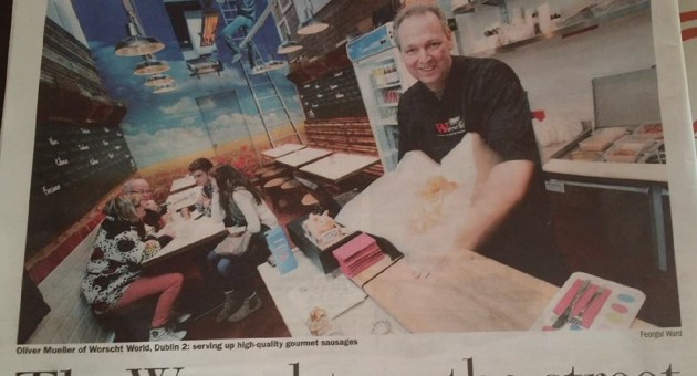 Oliver and Worscht in the Sunday Business Post